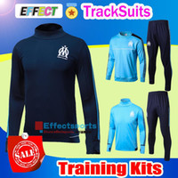 Wholesale Browning Sweat Pants - Soccer tracksuits 2017 Best quality survetement football Marseille Real Madrid training suit sweat top chandal soccer jogging football pant