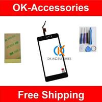 klebeband für iphone großhandel-Großhandels- Ersatz für DOOGEE X5 Touchscreen Digitizer Touch hohe Qualität schwarz Farbe 1PC / Lot mit Tools 3M Klebeband