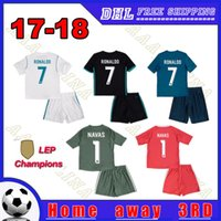 b895ecca9b4 Soccer Short Polyester 2018 Champions Real Madrid kids kits Soccer Jerseys  17 18 Home Away 3RD