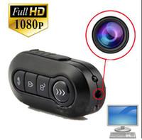 Wholesale Hd Spy Cam Keys - 1080P spy camera cam K1 Car Key Hidden Camera Key mini DV DVR Video Recorde HD Night Vision Motion Detection MINI Camcorders