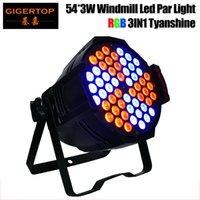 Wholesale Led Par Light 54 - Freeshipping Gigertop 130W 54 X 3W RGB 3IN1 Windmill Aluminum Led Par Light Individual Led Lamp Board Control 3 6 10CH CE ROHS TP-P65 CE