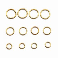 Wholesale Silver Plating Jewelry Ring Findings - Jewelry Finding Gold Color Plate Unsoldered Stainless Steel Jump Rings for DIY Making 100g bag JR01