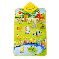 Wholesale Carpet Farm - Wholesale- 67 * 40 cm game Carpet  activity carpet Music carpet baby voice Musical mat  child's toy (Happy Farm)