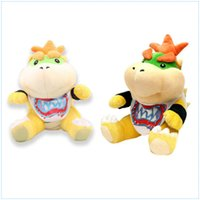 2pcs Big Monstro Bowser Jr. 7 polegadas Super Mario Bros Bowser Koopalings Plush Toy