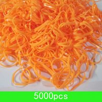 Nouveau 5000pcs / lot orange Rubber Band Cheval petite taille Cheveux Braid Bow Topknot 1/2 rubber bands 1.8cm gros