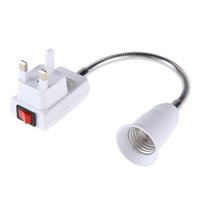 Wholesale uk bulbs online - UK Plug E27 Lamp Bulbs Adapter Converter Flexible Extension Holder Bulbs Converter with On Off Switch