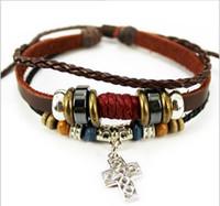 Wholesale Green Bracelet Handmade - Mix 8 colors Design Bracelet green natural stone bracelet handmade leather bracelet For Women