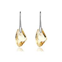 Wholesale Genuine Swarovski Jewelry - Free Shipping Made With Genuine Swarovski Elements Crystal Big Stone Drop Dangle Earrings Women Pendant Earring Jewelry Big