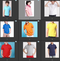 Wholesale Designer Kids Shirt - HOT Kids Polo Tshirt Brand designer Boys Girls Polo T-shirts Short Sleeve With Embroidery Logo Casual Shirts Size 1Y TO 6Y Wholesale