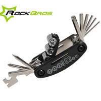 Wholesale Folding Bicycle 16 - Wholesale-ROCKBROS 16 in1 Bike Tool Hex Spoke Folding Wrench Mountain Cycle Screw Set High Quality Bicycle Multifunction Repair Tool