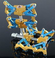 Wholesale Pedal Clipless - POCOOL Bike BMX Aluminium Alloy Clipless Bicycle Pedals DIY Transformers Non-Slip Ultralight Professional Bearing MTB Road Pedal.
