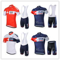 Wholesale Team Clothes Wholesale - 2016 New Team IAM Cycling Clothes Short Sleeve Men Summer Cycling Jerseys + Cycling Shorts Sets Mountain Cycling Clothing MTB Riding Wear