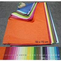 Wholesale Material Shoe Bags - 50 x 70cm tissue wrapping paper gift packing paper wine bag shoes packaging packing protection material 100 sheets lot H210468