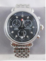 Wholesale Diamond Factory Supplier Watch - hot sell Factory Supplier NEW Silver CSX 36 Diamond Dial Black Watch & Bracelet MW03M00A0928