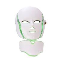 photon führte pdt großhandel-PDT Photon Therapy LED Gesichtsmaske Hautverjüngung Hautpflege Schönheit Maschine Gesicht Hals Verwendung mit Stand für Salongebrauch