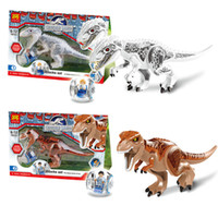 Wholesale Wholesale Jurassic Park - LELE 79151 Jurassic Park Jurassic World Tyrannosaurus Rex Bricks Building Block Minifigue Toys Kid Toy For Gift