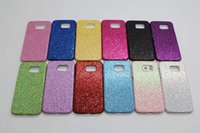 PU orange textured - Bling Glitter Sparking Sequin Textured Cover Case For Iphone S samsung S6 edge