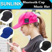 Wholesale Iphone Ear Caps - bluetooth headphone cap Music Baseball Cap Headset Earphone Multi-colors Cotton Headphone Sunhat Wireless Casual Sport Caps For Men Women