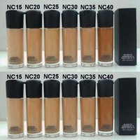 base de maquillaje de color al por mayor-M @ c Matchmaster Foundation SPF 15 Face Liquid Foundation Maquillaje Studio Fix Foundation 35ml NC15 NC20 NC25 NC30 NC35 NC40
