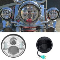 "Wholesale Headlight W Cree - Partol 5.75"" 40W Motorcycle LED Headlight w DRL Hi-Lo Beam CREE Chips 5 3 4 Inch Daymaker Projector Headlamp for Harley 6000K"