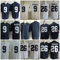 Wholesale Red Tens - Mens Penn State Nittany Lions Saquon Barkley Big ten College Football Jerseys stitched #9 Trace McSorley Penn State Nittany Lions Jersey S-3