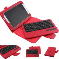 Wholesale 8inch Tablet Covers - For Samsung 8inch 7inch Tablet Wireless Bluetooth PC keyboard PU Leather Stand Cover With Retail Box
