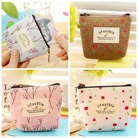 ingrosso mini sacchetti di lino-10 pezzi Carino piccolo tela di cotone borsa di tela portafoglio donna mini moneta sacchetto auricolare piccolo portafoglio