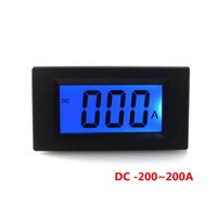 0~+/-200A blue electrical testing - DC A A Digital Blue LCD Ammeter Test Positive and Negative Current Meter