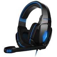 Wholesale tablets for gaming resale online - Hot EACH G4000 Stereo mm LED Gaming Headphone Headset with Mic Lights for Gamer PC iphone tablet