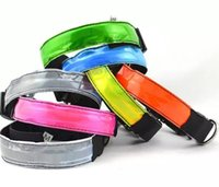 8Colors 4Sizes Night Safety LED Light Piscando Glow Nylon Pet Dog Collar Pequeno Medium Dog Pet Leash Dog Collar Flashing Safety Collar
