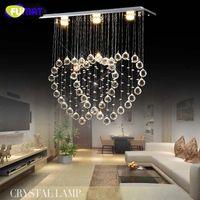 Wholesale Led Heart Chandelier - Creative K9 Crystal Chandelier Crystal 2 Hearts Suspension Light Living Room Hotel Project Light Lustre Luxury Chandelier Villa hanging Lamp