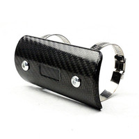 Wholesale Carbon Fiber Heated - TKOSM Motorcycle Exhaust Muffler Cover Carbon Fiber Color Protector Heat Shield Cover Guard TMAX530 CB400 CBR300 Z250 Z750