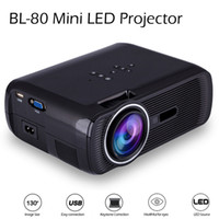 Wholesale mini tft lcd resale online - Newest BL Mini Portable LED Projector Lumens TFT LCD Full HD AV USB SD VGA HDMI For Video Games TV Home Theater Proyector Beamer
