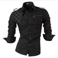 Wholesale Korean Slim Fit Shirts Brand - Free Shipping 2016 New Fashion Casual slim fit long-sleeved men's dress shirts Korean styles cotton shirt new brand free shipping
