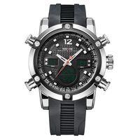 Wholesale Digital Watch Blue Lcd - Luxury brand digital quartz mens LCD wristwatch rubber strap black fashion army outdoor sports male diver watches reloj hombre