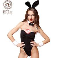Wholesale Lingerie Sexy Bunny Girls - Leechee Q886 Latex Women Lingerie Sexy Hot Erotic Bunny Girl Cosplay Uniform Perspective Suit Temptation Cute Porn Sexy Shop