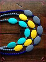 colar do silicone do bfa fda venda por atacado-DIY Silicone Dentição Bead / Colar de Enfermagem BPA Livre, FDA Aprovado Food-Grade Silicone! Colares Chewelry de Enfermagem / Moda Dentição Toy-M01