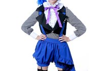 ingrosso costumi cosplay ciel nero cembalo-Anime giapponese Black Butler Cosplay Book of Circus versione Ciel Phantomhive Costume Shirt + Vest + Pants + Hat per set