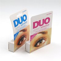 Wholesale Wholesale Lash Adhesive - High Quality DUO Eye Lash Glue Clear White & black Makeup Adhesive Waterproof False Eyelashes Lady makeup tool M01121 free Ship