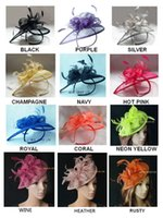 Wholesale Crown Derby - EMS FREE SHIPPING.HOT sinamay fascinator with feathers for kentucky derby,races,wedding, TOP grade workmanship.