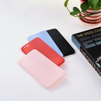 Moderno Simplicity Mate Soft Phone Shell Cream Rosa / Azul Rojo Negro Frosted Phone Case Cover Volver para Iphone 8 8plus 7 7plus