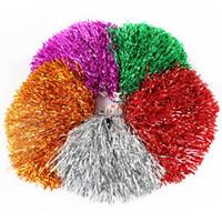 ingrosso danza fiore di plastica-Colorful Hands Cheerleading Flower Ball Personalizzato Straight Shank Plastic Wire Cheer Stage Performance Dance Sticks Rocking Ball Cheerleader