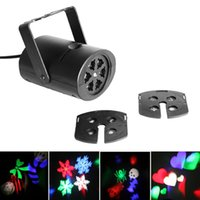 Wholesale Free Laser Patterns - Free Shipping! 8 Patterns 4W Laser Projector RGB LED Stage Lighting DJ Xmas Party Effect Light LEG_904