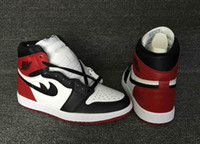 Wholesale Top High Cut Shoe Brands - 2016 Mens Athletic Retro 1 High Black Toe Basketball Shoes Brand I OG Top 3 Sport Trainer Sneakers 41-46