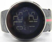 Wholesale Mens Digital Bracelet Watches - Top quality IN original BOX Mens 114 Black PVD Rubber Strap 44mm Digital YA114207 RUBBER BRACELET QUARTZ SPORT Luxury WATCHES