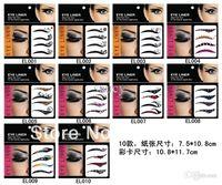Wholesale Eye Shadow Smoky Tattoo - Wholesale-Free shipping 60packs = 240pairs fashion eye shadow eyeliner stickers smoky eyes tattoo