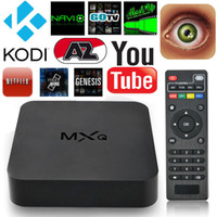 Wholesale Smart Android Box Quad Core - Android 4.4 MXQ TV Box Quad Core 8G Amlogic S805 4K Smart TV Box XBMC KODI16.1 Full Loading WIFI suport 3D