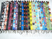 Wholesale Despicable Cell - 10pcs Free shipping Batman  Superman star wars minions music note Despicable Me neck Lanyard Cell Phone PDA Key ID Holder strap Mix order