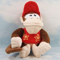 Wholesale Super Mario Bros Plush Characters - Monkey Kong Plush doll Super Mario Bros Donkey Kong Soft Toy Gift Figure Stuffed Animals Toys