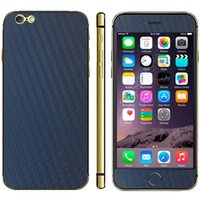 Wholesale Carbon Sticker For Mobile Phones - Wholesale-Carbon Fiber Texture Mobile Phone Decal Stickers for iPhone 6 & 6S